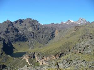 , Mt Kenya climbing to point Lenana